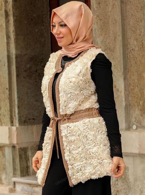 Baju Whynot 9 gaya jilbab dengan vest ini bikin tilanmu tambah