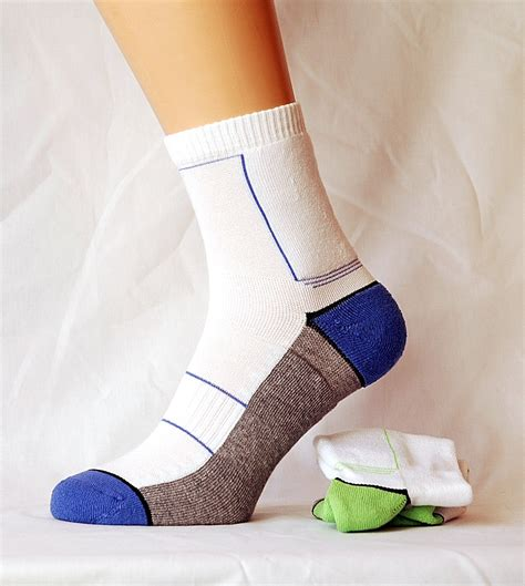 Eco Silver Sport Socks 2 pair ultra fit sports socks with silver technology cool fresh yarn white mix moorland hosiery