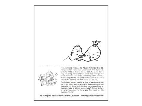 printable advent calendar story junkyard tales audio advent calendar printable coloring