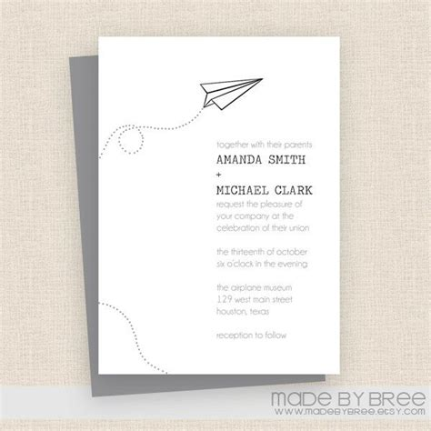 Airplane Wedding Invitations