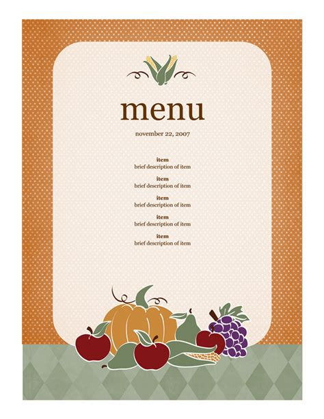 html menu design templates 21 free free restaurant menu templates word excel formats