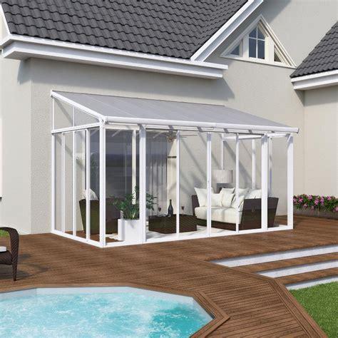 aluminium veranda v 233 randa en aluminium blanc et polycarbonate 12m 178 4x3m