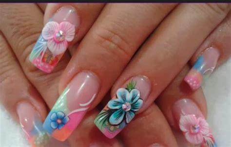 imagenes uñas pintadas flores u 241 as pintadas con flores y piedras decoraci 243 n de u 241 as