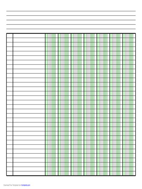 Columnar Pad Template For Excel Columnar Pad Paper 63 Free Templates In Pdf Word Excel Download