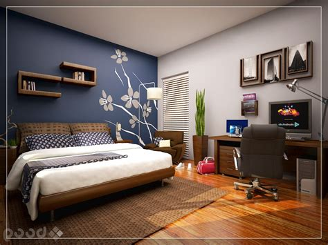 bedroom wall paint ideas cool bedroom with skylight blue accent wall mural home properti
