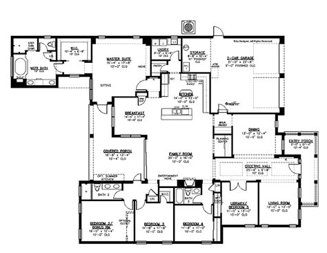 5 bedroom apartment floor plans 5 bedroom single story house plans picturesque exterior