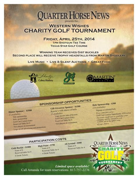 charity golf day invitation letter charity golf tournament with quarter news in april