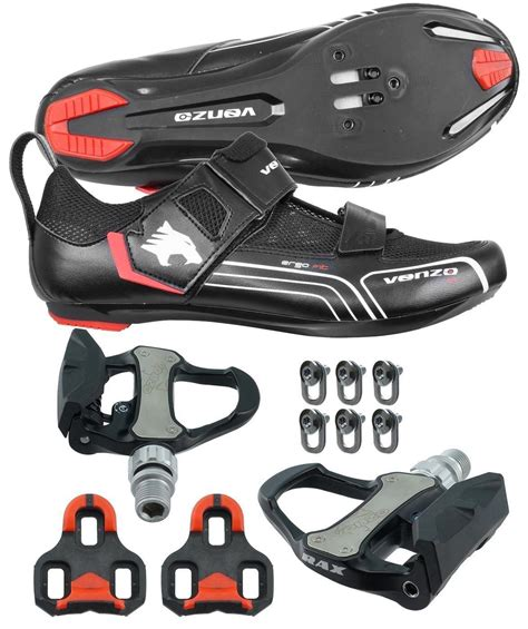 triathlon bike pedals and shoes buy venzo bicycle cycling triathlon shoes pedals shimano