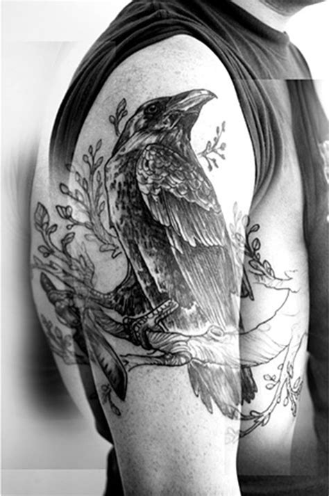 raven sleeve tattoo designs 63 tattoos ideas