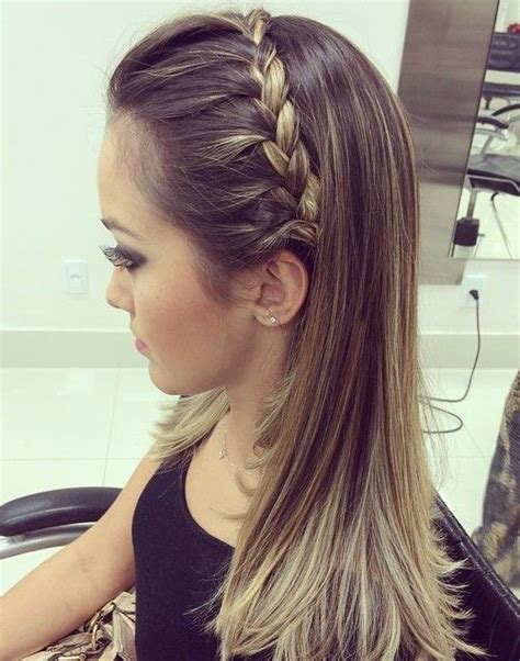 new hairstyles ideas for straight hair prom hair down straight braid www pixshark com images