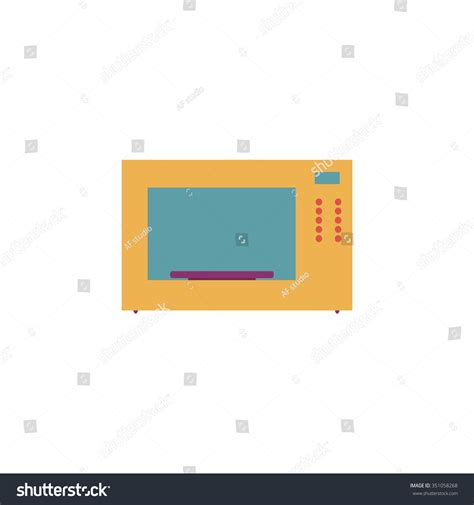 colorful microwave microwave oven colorful pictogram symbol on white