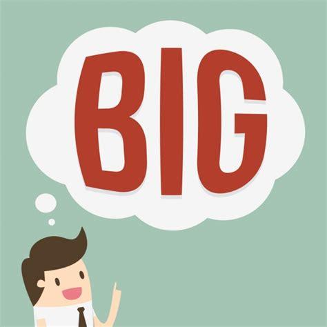 Thinking Big thinking big background design vector free