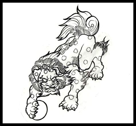 komainu tattoo design how to draw a guardian fu komainu style