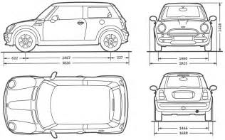 Mini Cooper Size Looking For An Outline Of A 1st Cooper Or Cooper S
