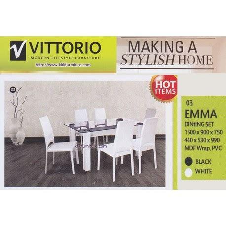 Meja Makan Vittorio harga meja makan minimalis vittorio