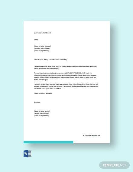 apology letter customer miscommunication letter