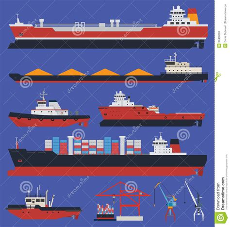 ship info cargo ships infographic stock vector image of industrial