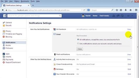 email yahoo facebook how to stop email notifications from facebook youtube