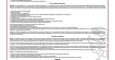 convocatoria planilla ministerio publico el mexiquense hoy convocatoria del ayuntamientlo de