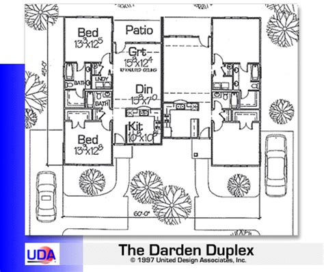 roomsketcher change units uda darden duplex ideal home plan 96158