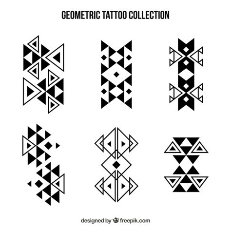 geometric tattoo vector abstract geometric shapes tattoo collection vector free