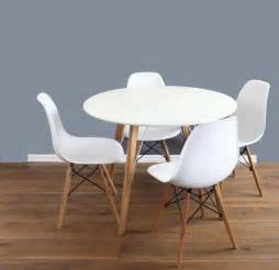 mmilo dining table 1m and chairs set of 4 dsw white