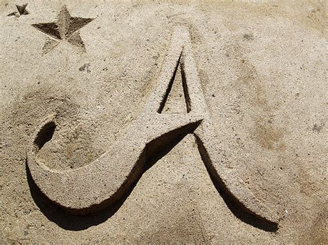 Letter In The Sand The Letter A Out Of Sand Mari 235 Lle Flickr
