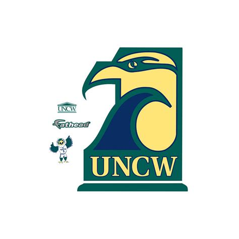uncw business card template uncw seahawks logo wall decal shop fathead 174 for unc