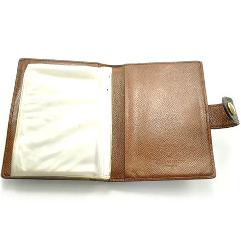 Louis Vuitton Lv Monogram Coklat Tempat Card Holder Pocket Chocolate louis vuitton vintage monogram credit card photo holder 22113