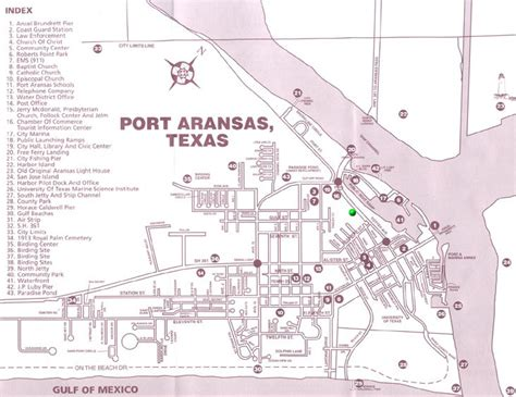 map port aransas texas mb rv resoirt directions and maps