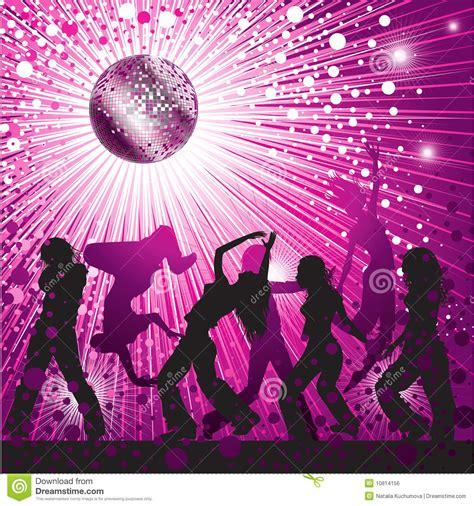 vector background  people dancing  nightclub royalty
