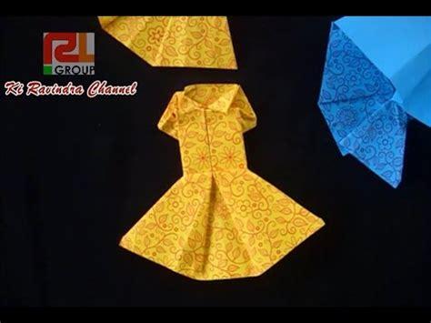 cara membuat origami baju pesta cara bikin baju dari kertas origami youtube