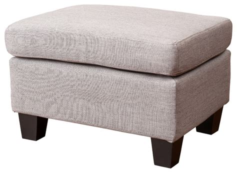 Christabel Fabric Ottoman Footstool Gray Transitional