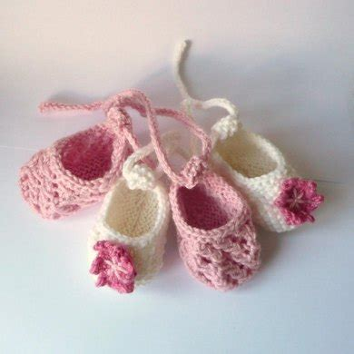 Sepatu Balet Glitter baby ballerina shoes knitting pattern by katy farrell