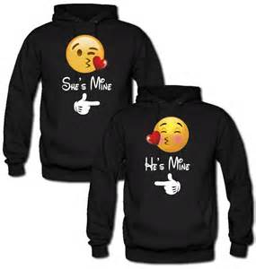 Bedroom Rugs For Girls Emoji She S Mine He S Mine Hoodie From Teee Shop Couples Bff