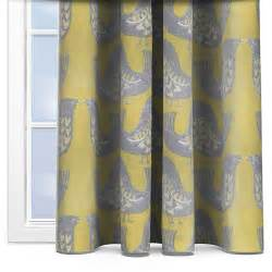 How To Measure Curtain Width For A Window Iliv Scandi Birds Mustard Curtain Custom Curtains