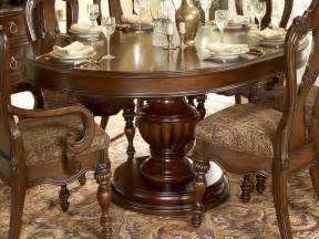 Double Pedestal Tables Round Dining Room Sets Design Ideas Stroovi