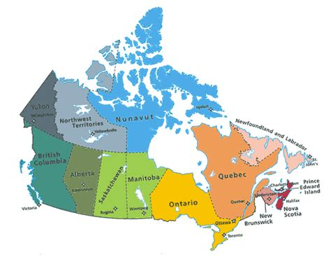 canadian map of provinces and territories province of canada quiz