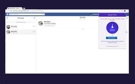 fb message cleaner messenger cleaner chrome web store