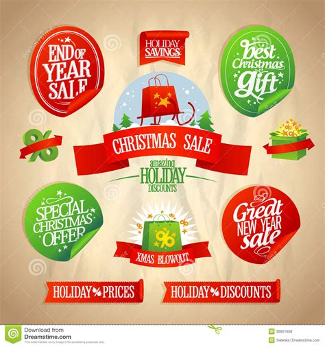 new year sales instrumental new year and sale designs collection royalty