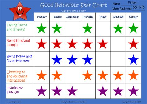 printable behaviour star chart hd wallpapers printable star chart for good behavior