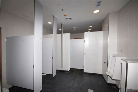 Ceilings And Partitions by Custom Designed Ceiling Hung Restroom Partitions For Sale
