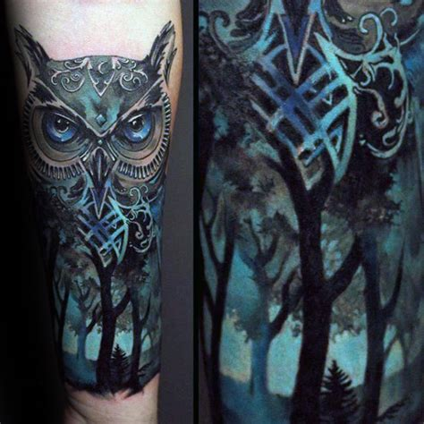 blue owl tattoo blue owl by pictures to pin on tattooskid