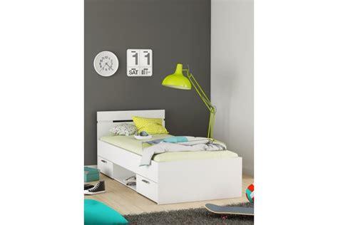 cama de 90 con cajones cama de 2 cajones 1 hueco de 90x200 en color blanco al