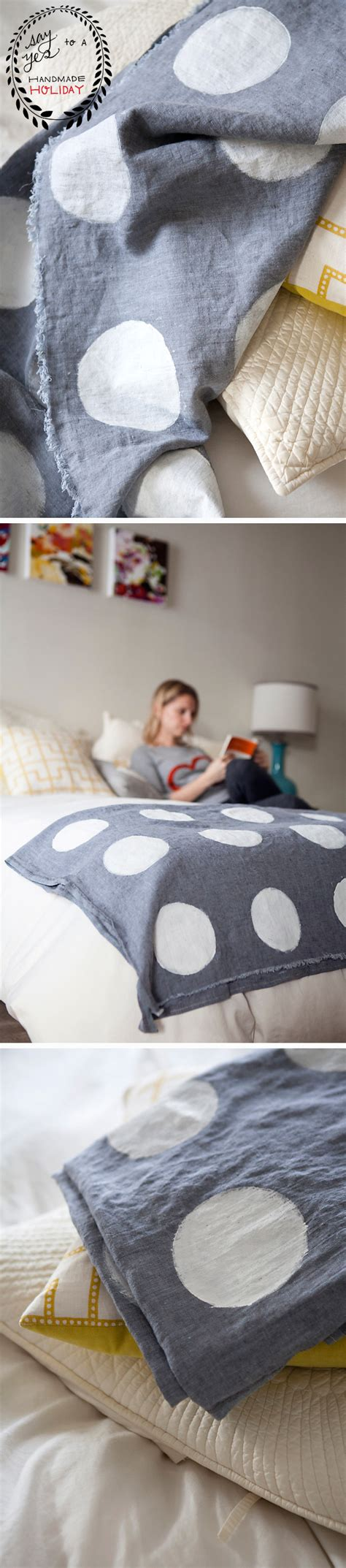 diy coverlet diy hand sted polka dot coverlet say yes