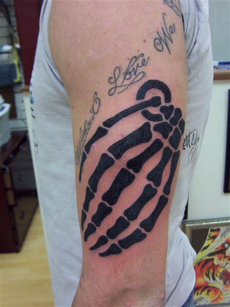 tattoo hand grenade quot hand quot grenade by jason riddick tattoonow