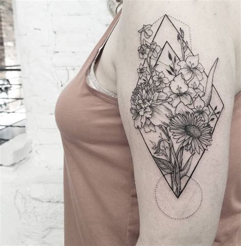 tattoo flower geometric geometric flower piece done by release852 at