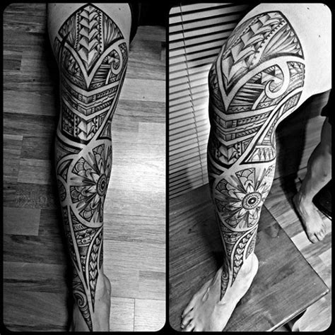 tribal tattoos leg sleeve 60 tribal leg tattoos for cool cultural design ideas