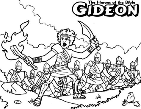 The Judas Sheep Large Print 16pt gideon the bible heroes coloring page netart