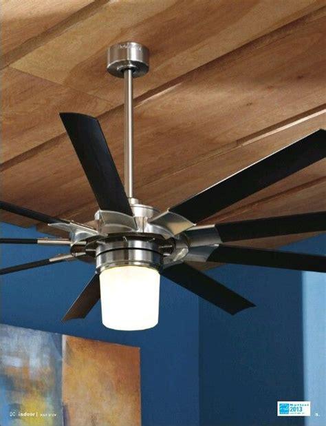 slinger ceiling fan a harbor 174 72 in slinger with remote brushed nickel fnish with black blades highly